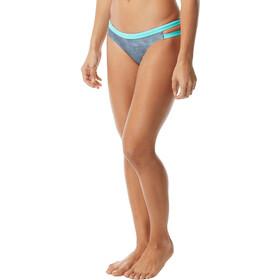 TYR Sandblasted Cove Slip del bikini Mujer, grey/teal